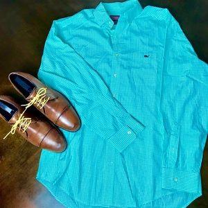 Vineyard Vines Men's Light Green Shirt